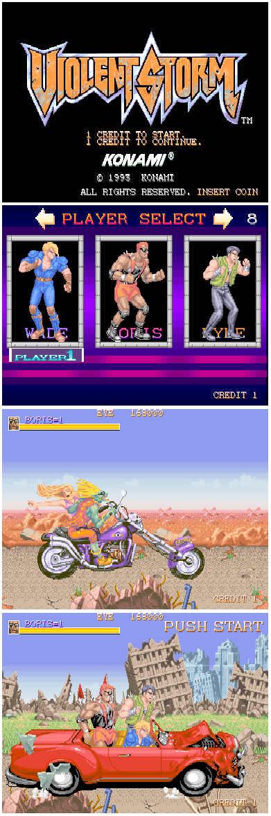 Жестокий шторм (Konami, оригинал)